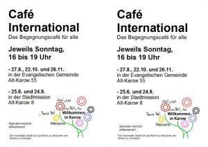 """Cafe International"" in Karow @ Gemeindehof Karow 