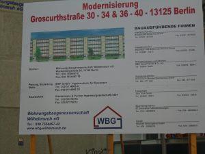 Bauschild WBG Wilhelmsruh
